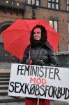 Feminister mod sexkøbsforbud. Fotograferet af Torben Svane.