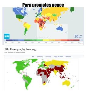 Porno promotes peace