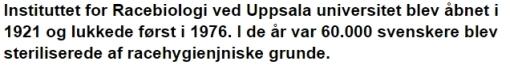 Sverige racehygiejne